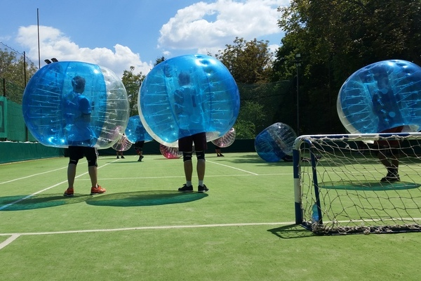 bubble football programme in budapest. Black Bedroom Furniture Sets. Home Design Ideas