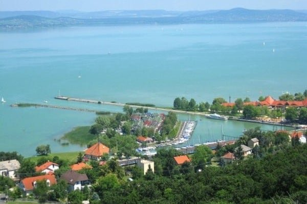 Helicopter Flight over the Balaton